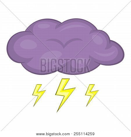 Clouds And Storm Icon. Cartoon Illustration Of Clouds And Storm Icon For Web Design