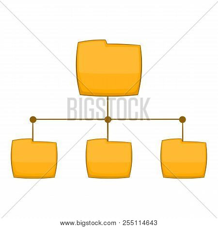Folders Structure Icon. Cartoon Illustration Of Folders Structure Icon For Web Design
