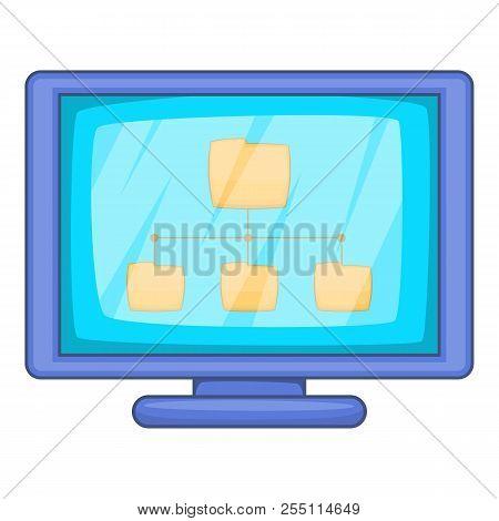 Desktop Folders Icon. Cartoon Illustration Of Desktop Folders Icon For Web Design