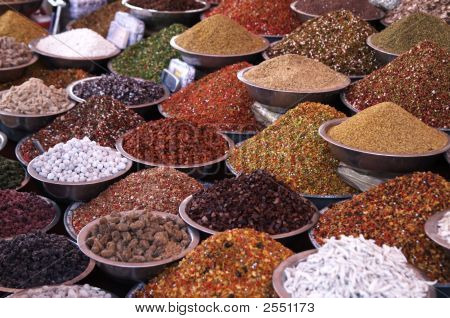 Markets Stall Selling Ingredients