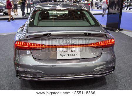 Bangkok, Thailand - August 22, 2018: Audi A7 Sportback Presented In Big Motor Sale 2018
