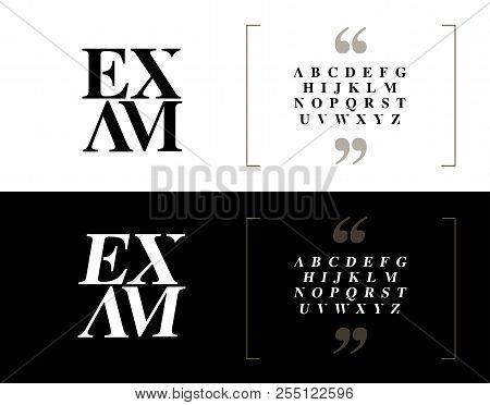Elegant Alphabet Letters Set. Classic Custom Lettering Designs For Logo, Poster, Invitation, Etc. Ty