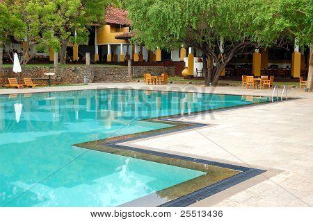 Swimming Pool At The Luxury Hotel, Bentota, Sri Lanka