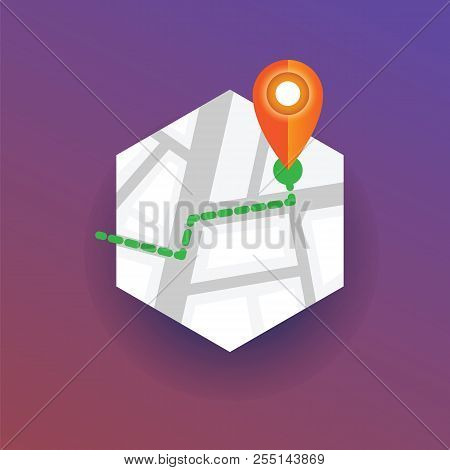 Map Marker Pointing Navigational Location, Map Pin Vector. Map Marker Vector Badge.