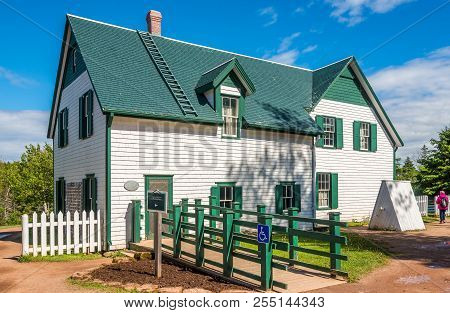 Cavendish, Canada - June 19,2018 - The Green Gables Farmhouse Is Located In Cavendish. There Is A Mu