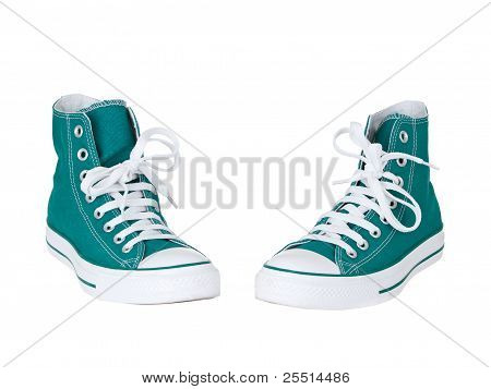 Vintage Hanging Green Shoes