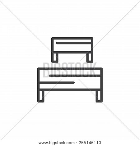 Barriers Outline Icon. Linear Style Sign For Mobile Concept And Web Design. Business Hurdle Simple L