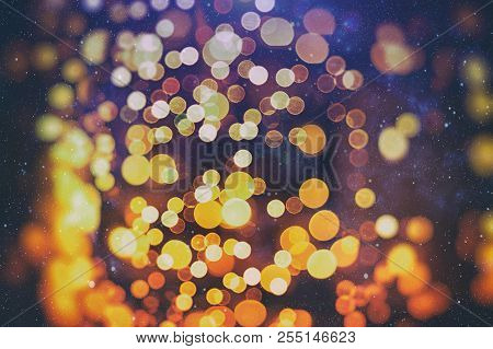 Bokeh With Multi Colors, Festive Lights Bokeh Background, Defocused Bokeh Lights, Blurred Bokeh, Bok