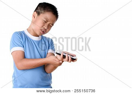Young Asian Boy Has Pain At Arm