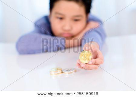 Golden Bitcoin In Hand