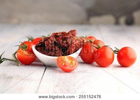 Sun Dried Tomatoes. Tomato Halves Sun-dried.