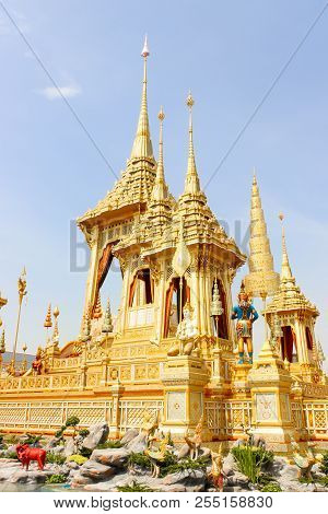 Bangkok, Thailand - November 04, 2017; The Golden Of Royal Crematorium For King Bhumibol Adulyadej