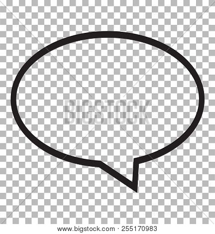 Speech Bubble Icon Isolated On Transparent Background. Speech Bubble Logo Concept. Flat Style. Speec