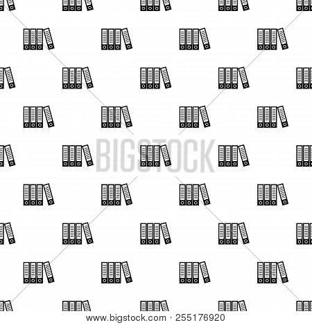 Office Folders Pattern. Simple Illustration Of Office Folders Pattern For Web