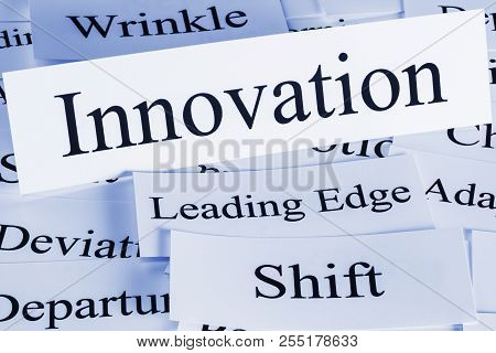Innovation Concept - A Conceptual Look At Innovation, Shift, Adaption, Wrinkle, L Eading Edge, Devia