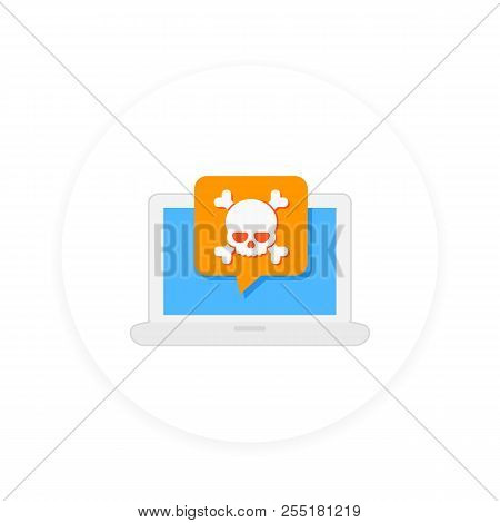 Malware, Spam, Fraud, Insecure Connection, Online Scam, Computer Virus Vector Icon