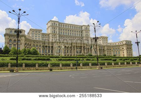 The Palace Of The Parliament, Bucharest, Romania.the Second Largest Building In The World, Built By