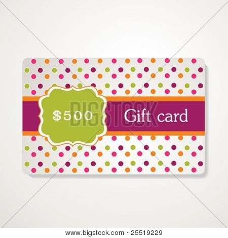 Beautiful gift card, vector illustration,retro style