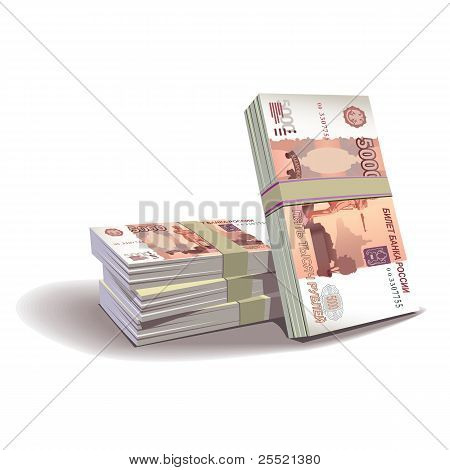 ruble banknotes vector illustration, financial theme