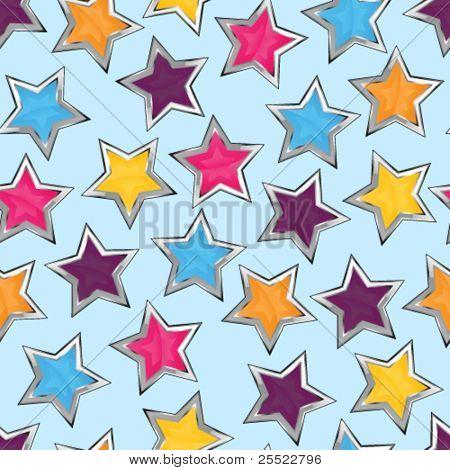 Shiny stars seamless pattern