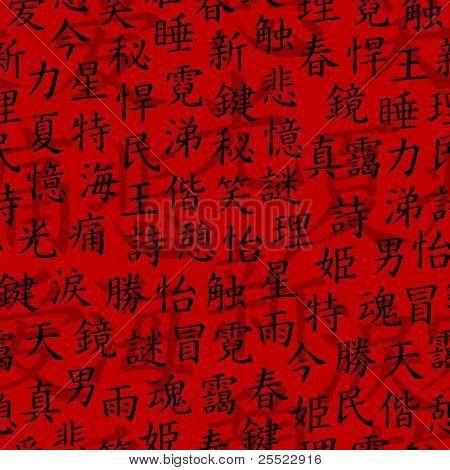 Kanji seamless pattern (raster version)