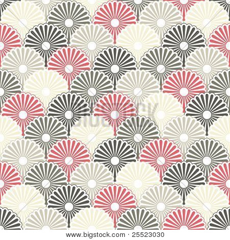 Seamless Japanese pattern in pastel colors