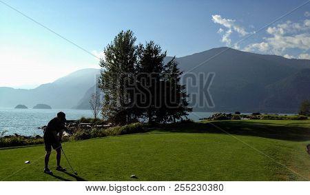 Golfing Along The Ocean, Howe Sound British Columbia
