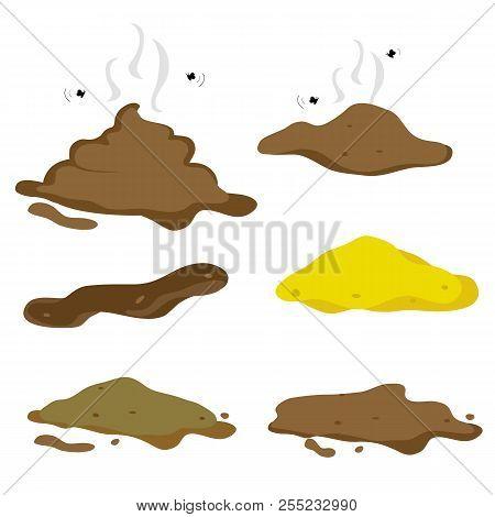 Poop Fecal Foul Bad Smell Element Cartoon Vector
