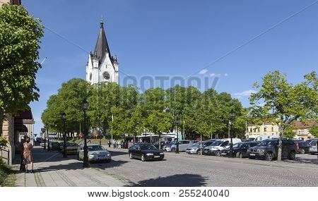 Nora, Sweden On May 19. Outdoor View Of The Square And The Surrounding On May 19, 2018 In Nora, Swed