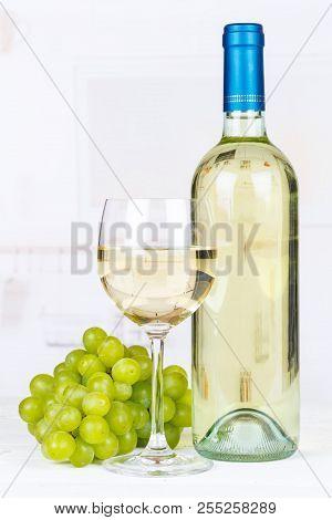 White Wine Grapes Portrait Format Copyspace Copy Space