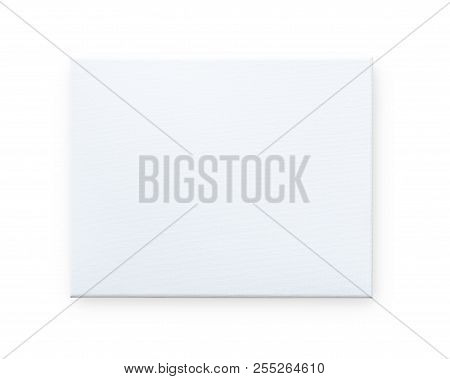 Blank Canvas Frame Mockup Isolated On White Background (clipping Path) For Arts Painting And Photo H