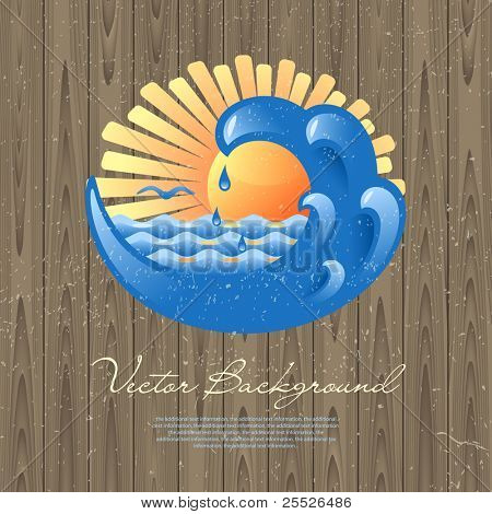 Vector background for design on a sea and summer holiday theme