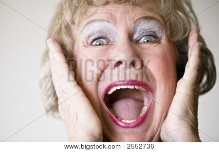 Screaming Senior Woman