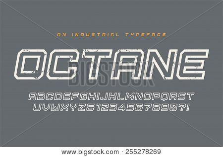 Octane Vector Display Typeface, Font, Alphabet, Typography.
