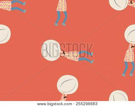 Medical People Seamless Pattern. Healthcare Print. Eldery Person With Pills, Syringe, Needle, Retort
