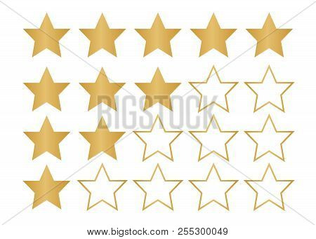 5 Star Rating Icon. Star Rate Vector Illustration
