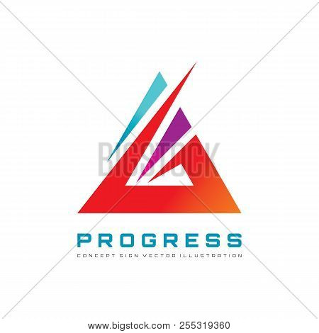 Abstract Triangle - Vector Logo Template Concept Illustration For Corporate Identity. Pyramid Sign.