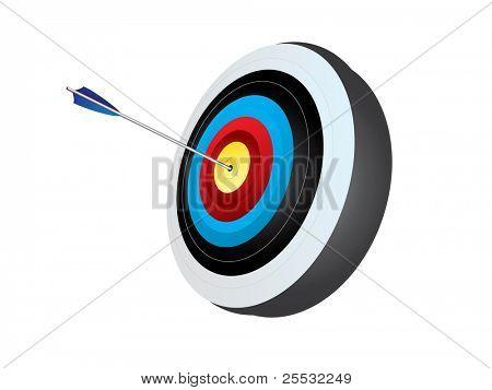 带有箭头的射箭目标