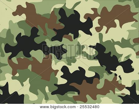 Military camouflage pattern poster