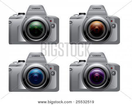 Digital dslr camera silver