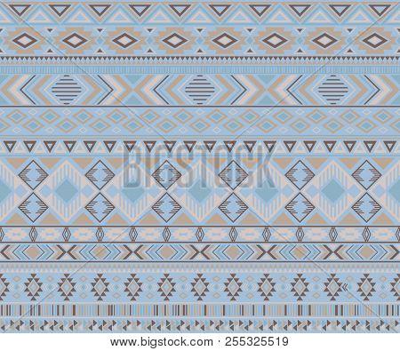 Navajo American Indian Pattern Tribal Ethnic Motifs Geometric Vector Background. Unusual Native Amer