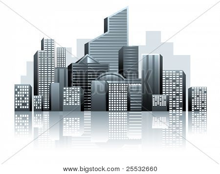 Vector of urban city