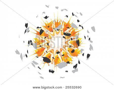 Fireball Explosion Vector