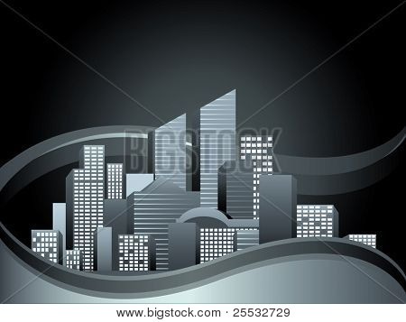 Vector of urban cityscape
