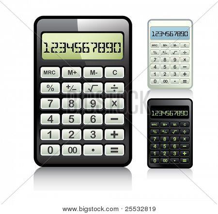 Calculator set vector