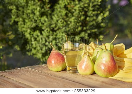 Pears And Cider In A Glass