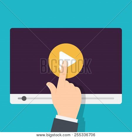 Video Tutorials Icon. Video Conference And Webinar, Distance Education. Streaming Video. Vector Illu