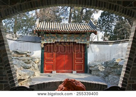 The Top Tourist Spot - North-lake Park In The Center Of Beijing