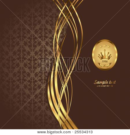 Gold and burgundy background illustration.