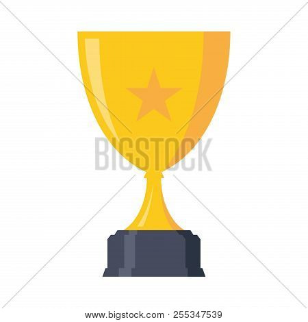 Set Luxury Design Trophy Award Championship Achievement With Color Gold. Trophy Icon Modern Symbol F